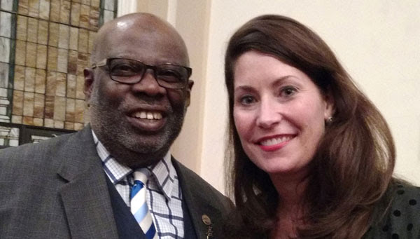 George Brown and Alison Lundergan Grimes